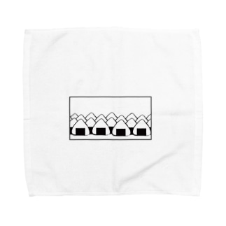 おにぎりの大群(枠あり) Towel handkerchiefs