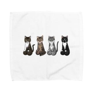 [チャリティ]正座猫チーム Towel handkerchiefs