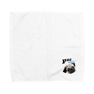 パグの泣き声 Towel handkerchiefs