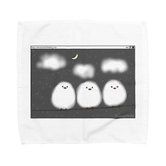 シマエナガ {寒そう Towel handkerchiefs