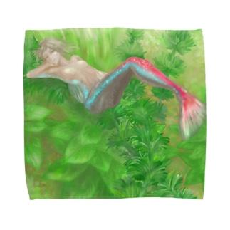 ネオンテトラ人魚 Towel handkerchiefs