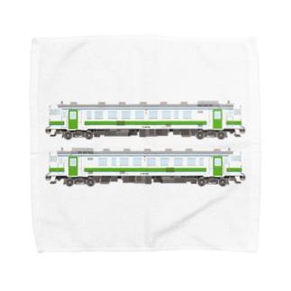キハ401&402 Towel handkerchiefs