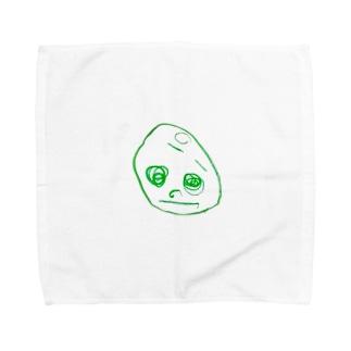 2歳半の絵 くるりちゃん(仮) Towel handkerchiefs