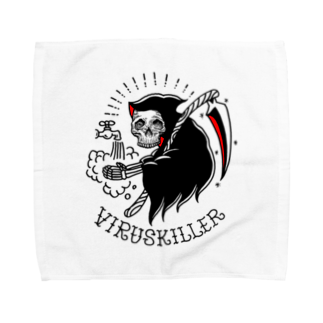 コロナ自粛への支援:DM7WORKSのvirus killer Towel handkerchiefs