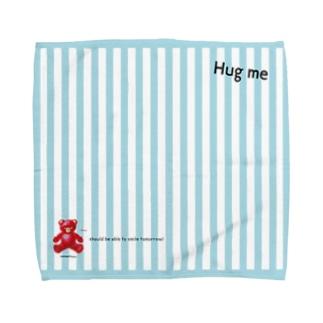 【Hug me】(赤くま) Lサイズ Towel handkerchiefs