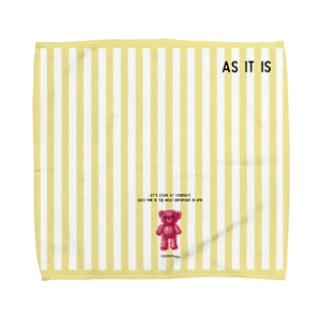 【As it is】(桃くま)Lサイズ Towel handkerchiefs
