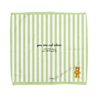 【you are not alone.】(茶くま)Lサイズ Towel handkerchiefs
