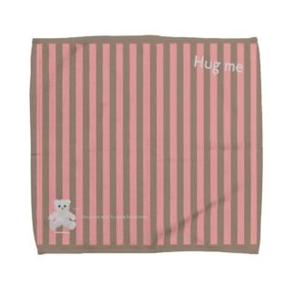 【Hug me】(白くま)Lサイズ Towel handkerchiefs