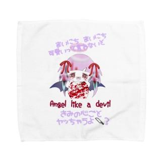 ヘラ天悪ちゃんハンカチ Towel handkerchiefs