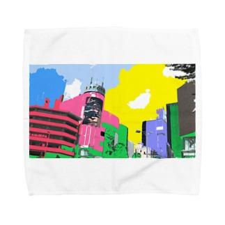 原宿にて Towel handkerchiefs