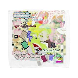 311★月山いつこ作品●雪虎■宝珠 rde2 Towel handkerchiefs