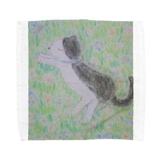昼寝をする猫 Towel handkerchiefs