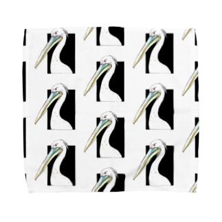 モモイロペリカン Towel handkerchiefs