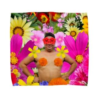 花と変態 Towel handkerchiefs
