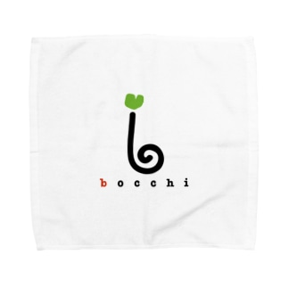 ロゴ(ライトグリーンver.) Towel handkerchiefs