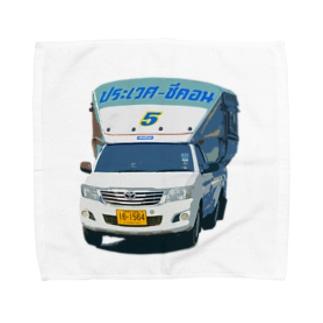 バンコクソンテウ(丸・手描き調) Towel handkerchiefs