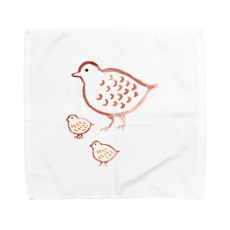 ライチョウ 親子 Towel handkerchiefs