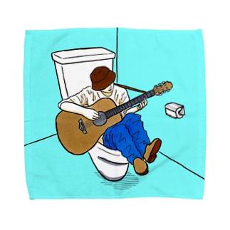 便器にハマっても魂は死なないシンガーソングライター Towel handkerchiefs