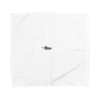 どこかでみたことあるワニ Towel handkerchiefs