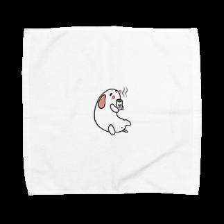 ポチとお兄ちゃんのお茶ポチ Towel handkerchiefs