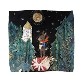 岬森のウサギ Towel handkerchiefs