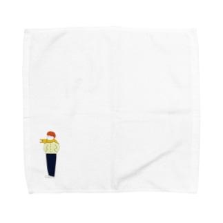 ウツボイエロー Towel handkerchiefs