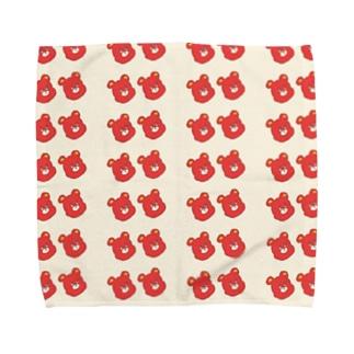 クマ1号。 Towel handkerchiefs