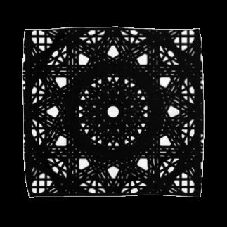 左の幾何学模様 series Towel handkerchiefs