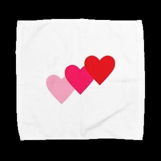アメリカンベースのハート Towel handkerchiefs