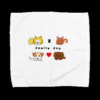 kururu9999のIラブファミリーDOG! Towel handkerchiefs