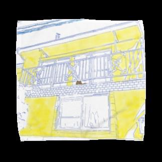 SHANの『しゃんと牛乳』 イラストシリーズ Towel handkerchiefs