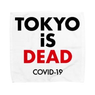 NIPPON DESIGNのTOKYO iS DEAD  COVID-19 Towel handkerchiefs