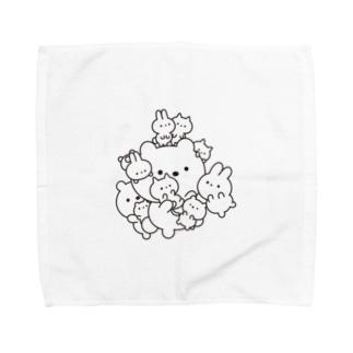 密になりたい動物たち Towel handkerchiefs