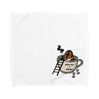 Coffee time = Bath time Towel handkerchiefs