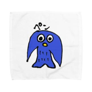 画伯ペンギンちゃん Towel handkerchiefs
