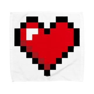 Cɐkeccooのドット絵ハート Towel handkerchiefs