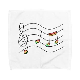 虹の音符たち Towel handkerchiefs
