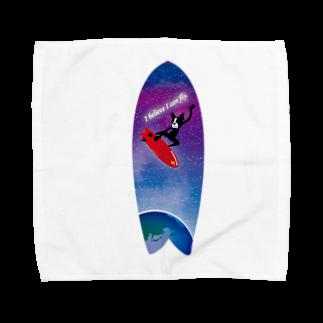 Hilo Diego Design Shopのボストンテリア サーフ I Believe I can fly Towel handkerchiefs