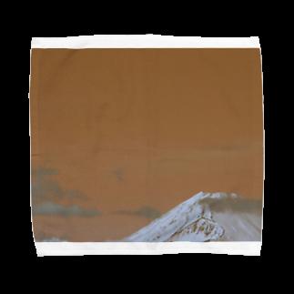 寫眞館 青い鳥のいろイロ 富士山オレンジ Towel handkerchiefs