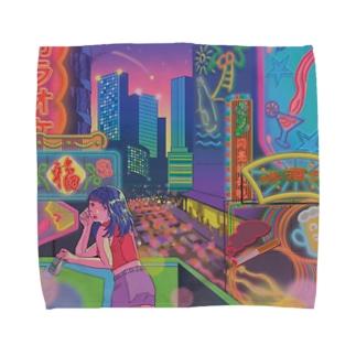 neon_ Towel handkerchiefs