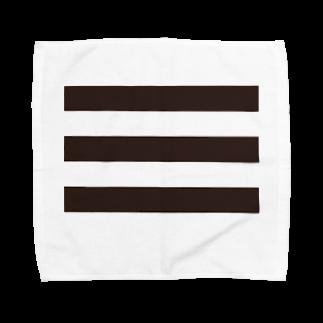 Atomatomのボーダー Towel handkerchiefs