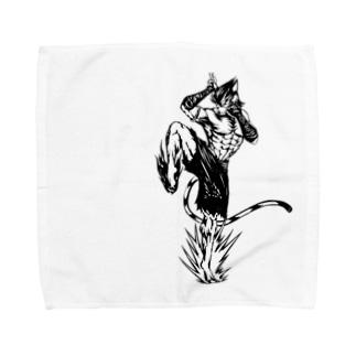 にゃんこファイター Towel handkerchiefs