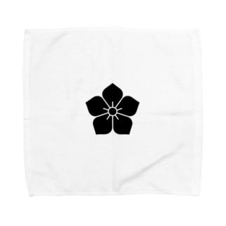 明智家の家紋(桔梗) Towel handkerchiefs