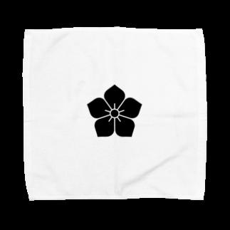 家紋・漢字ショップの明智家の家紋(桔梗) Towel handkerchiefs