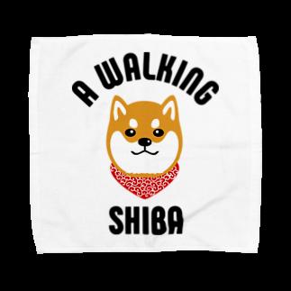 SHIBAINU BROTHERSの柴犬唐草散歩(赤) Towel handkerchiefs
