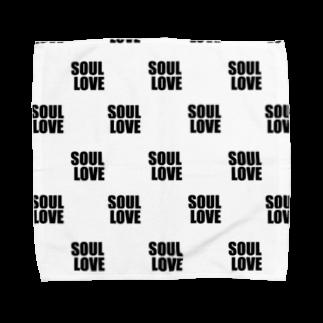 music bar SOUL LOVEのSOUL LOVE ドット Towel handkerchiefs