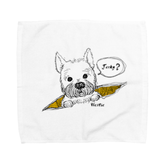 Dgkanae の「jerky?」 文字色black Towel handkerchiefs