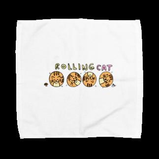 松岡雅士(마사시) きのこ 🍄の転がり猫 Towel handkerchiefs