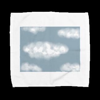 Atomatomのしろい雲 Towel handkerchiefs
