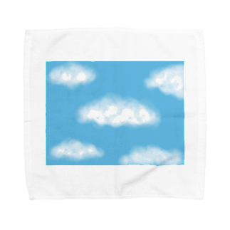 Atomatomの晴れた空と雲 Towel handkerchiefs